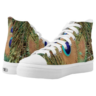 Peacock Feather Face High Tops