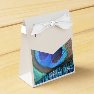 Peacock Feather Favor Bag Favour Box