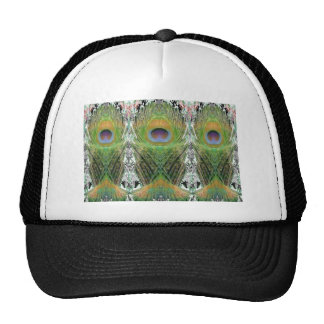 Peacock Feather - Fish Shaped Digitally Cap