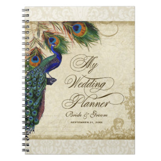 Peacock & Feather Formal Wedding Planner Journal