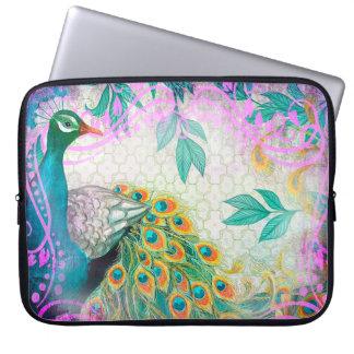 Peacock Feather Garden Laptop Sleeve