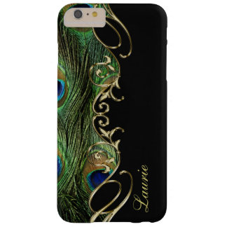 Peacock Feather Gold iPhone 6 Plus Monogram Case