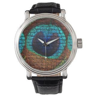 Peacock Feather Graffiti Watch