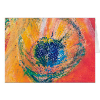 Peacock Feather Greetings card