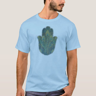 Peacock Feather Hamsa T-Shirt