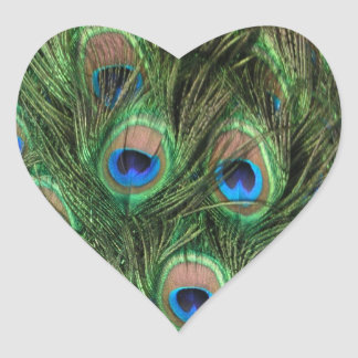 Peacock Feather Heart Sticker