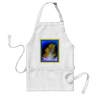 Peacock Feather in rich colorful colors abstract Standard Apron