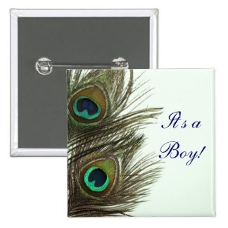 Peacock Feather It's a Boy Pin