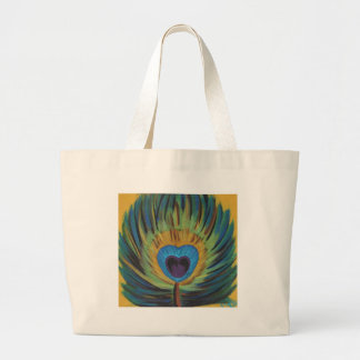 Peacock Feather Jumbo Tote Bag