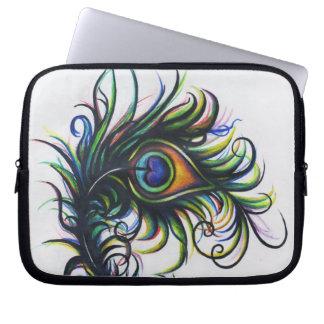 Peacock Feather Laptop Bag