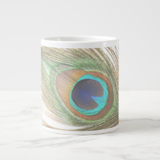Peacock Feather Large Coffee Mug