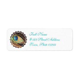 Peacock Feather Mailing Label