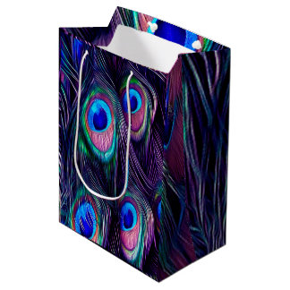 Peacock Feather Medium Gift Bag