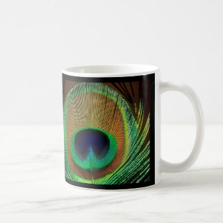 Peacock Feather Mug Design