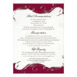 Peacock Feather n Swirls - Reception, Map, Hotel Custom Invitation