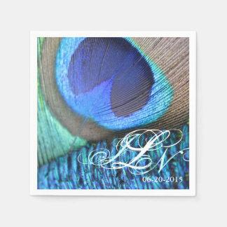 Peacock Feather Napkin Paper Napkin