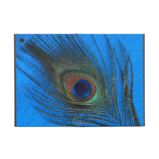 Peacock Feather on Blue Case For iPad Mini