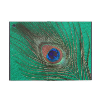 Peacock Feather on Green Cover For iPad Mini