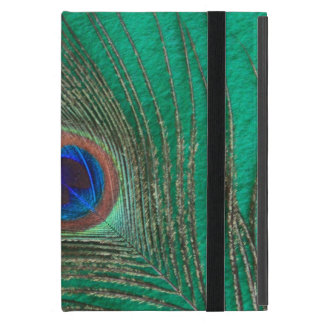 Peacock Feather on Green iPad Mini Case