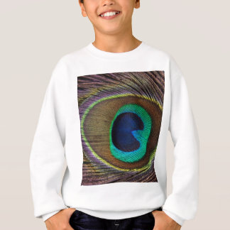 Peacock Feather On Left Side Close-Up Sweatshirt