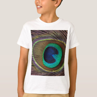 Peacock Feather On Left Side Close-Up T-Shirt