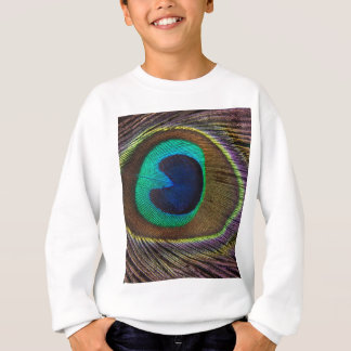 Peacock Feather On Right Side Close-Up Sweatshirt