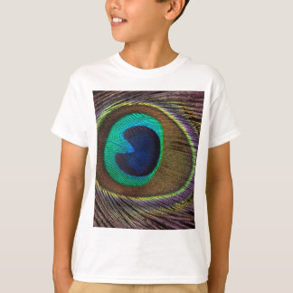 Peacock Feather On Right Side Close-Up T-Shirt