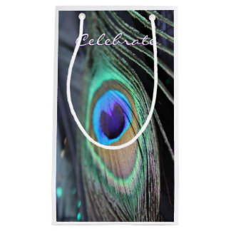 Peacock Feather Party Favor Unique Tote Gift Bags