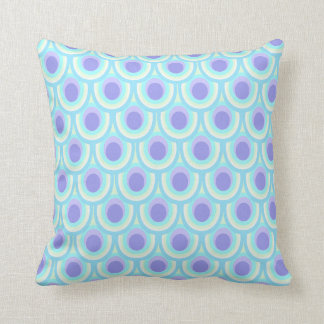Peacock feather pattern blue throw pillow throw cushions
