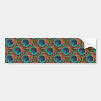 Peacock Feather Pattern Bumper Sticker