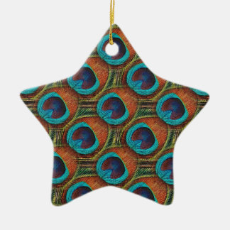 Peacock Feather Pattern Christmas Ornament