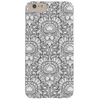 Peacock Feather Pattern Doodle Barely There iPhone 6 Plus Case