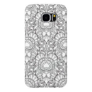 Peacock Feather Pattern Doodle Samsung Galaxy S6 Cases