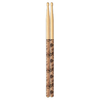 Peacock feather pattern drumsticks