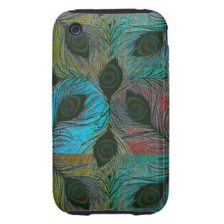 Peacock feather pattern iPhone3 phones iPhone 3 Tough Cases
