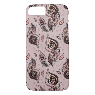 Peacock feather pattern iPhone 7 case