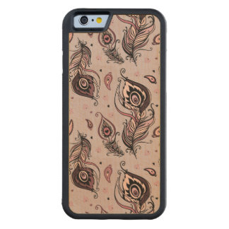 Peacock feather pattern maple iPhone 6 bumper