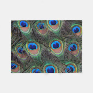Peacock Feather Pattern Photo Small Fleece Blanket