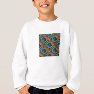 Peacock Feather Pattern Sweatshirt