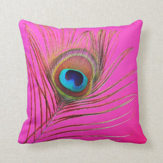 Peacock Feather Pillow