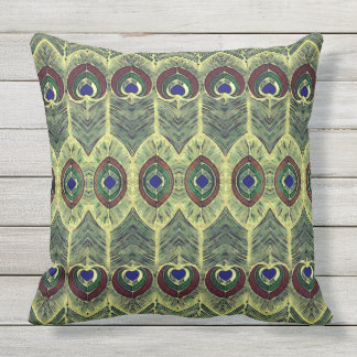 Peacock Feather Play Pillow