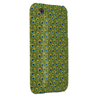 Peacock Feather Print iPhone 3 Covers