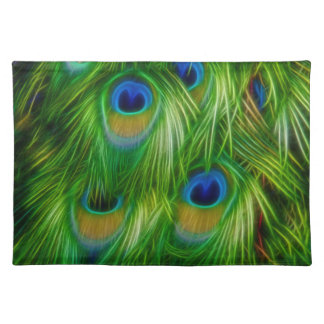 Peacock Feather Print Placemat