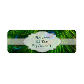 Peacock Feather Print Return Address Label