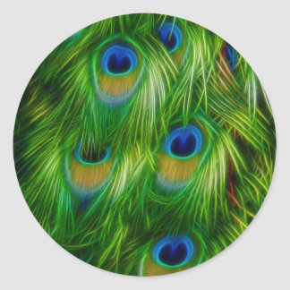 Peacock Feather Print Stickers