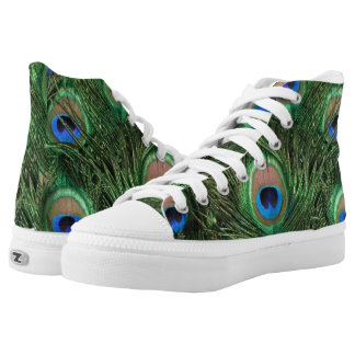 Peacock Feather Printed Shoes
