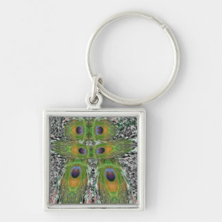 Peacock Feather Show Key Chain