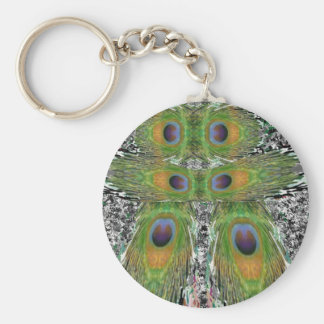 Peacock Feather Show Keychains