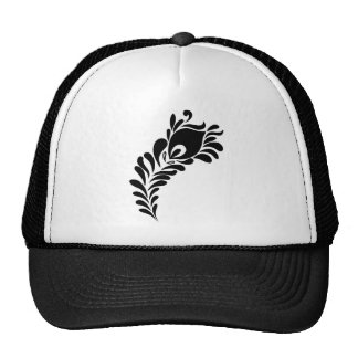 Peacock Feather Silhouette Trucker Hat