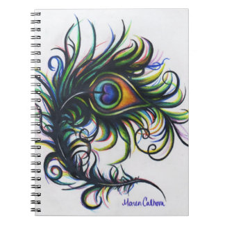 Peacock Feather Spiral Notebook